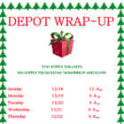 Depot Wrap-up poster top part 912-13-16