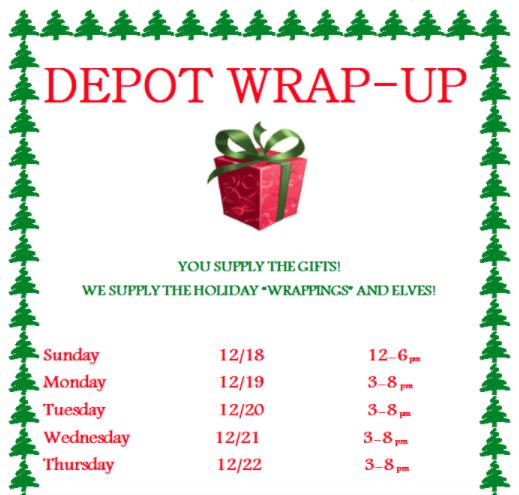 Depot Wrap-up poster top part 912-13-16