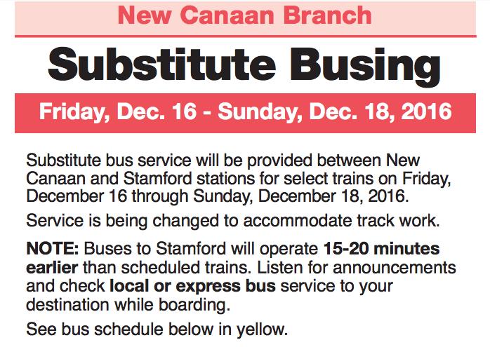Substitute busing 912-14-16