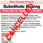 Cancelled Metro-North plan buses trains New Canaan Branch 912-15-16