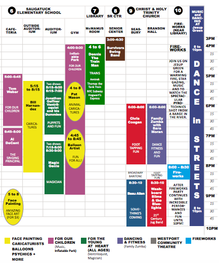Westport First Night schedule Part 2 912-26-16