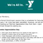 YMCA event cancelled 01-06-16