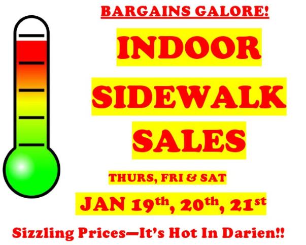 Indoor Sidewalk Sales image Darien Chamber 01-17-16