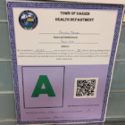 Health Certificate Frosty Bear 01-19-17
