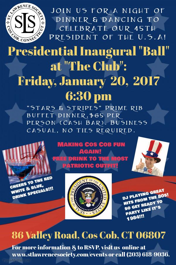 St. Lawrence Society Trump Inauguration promo image 01-19-17