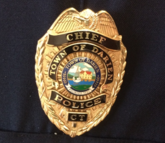Police Chief Badge Darien Police 02-15-17