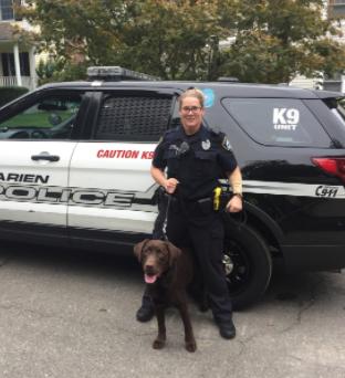 Leslie Silva Grizzly K-9 Darien Police