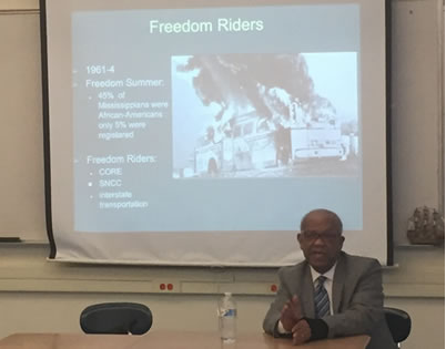 Reginald Green Freedom Riders Civil Rights Era Darien High School 02-09-17