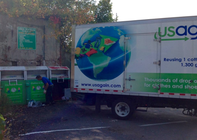 USAgain clothing bins recycling 02-11-17