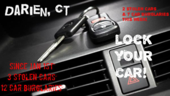 Lock Your Car Darien cops 02-16-17