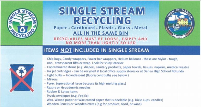 Darien Recycling Single Stream Recycling 02-18-17
