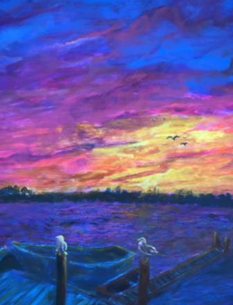 Art by Gigi Barrett Rowayton at Sunset 02-18-17