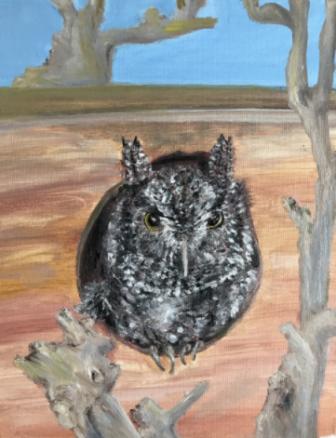 Gigi Barrett painting Blinkin in House 02-18-17