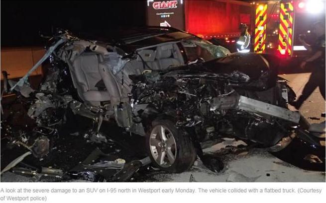 SUV Crash I-95 Slow Down Move Over Law AAA Northeast 02-20-17