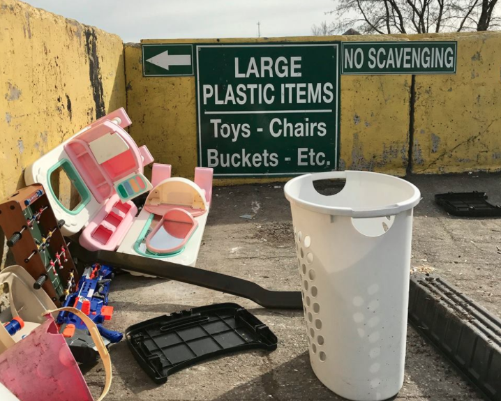 Large Plastic Items Darien Recycling Center 02-24-17