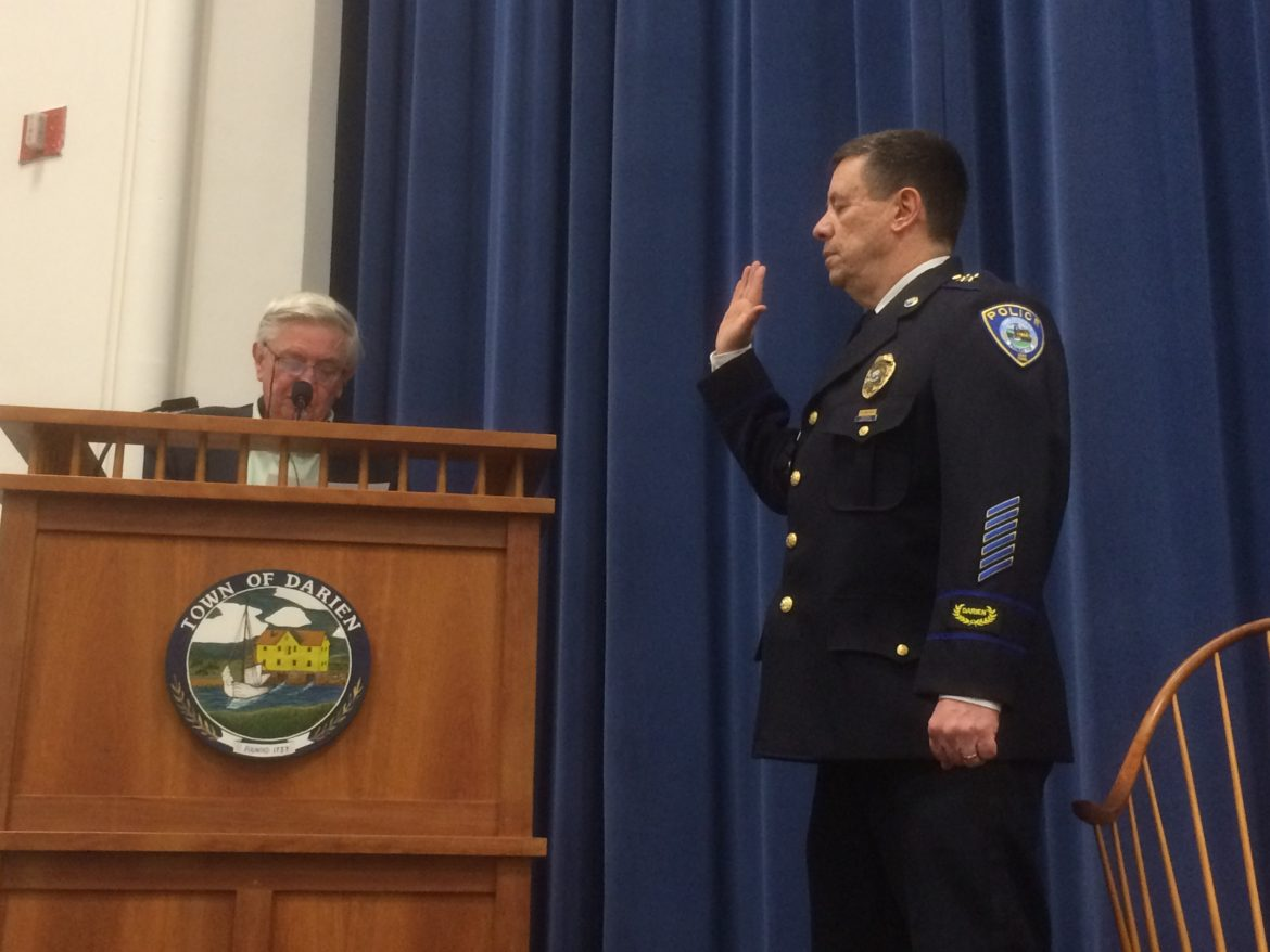 9653d1c6e Police Chief Ray Osborne s Speech at His Swearing-In Ceremony Wednesday at  Darien Town Hall