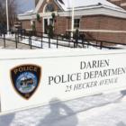 Police Snow Darien Police Sign Winter 03-22-17