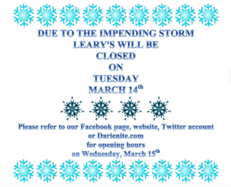 Leary's storm closing 03-13-17