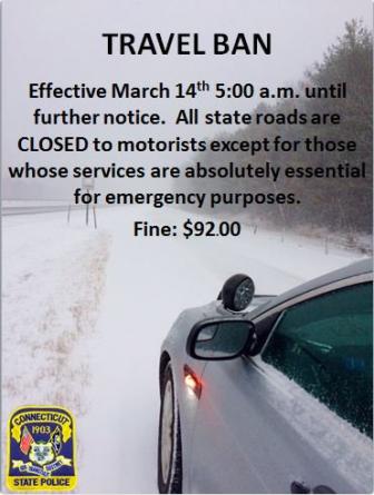 Fine $92 road travel ban 03-14-17