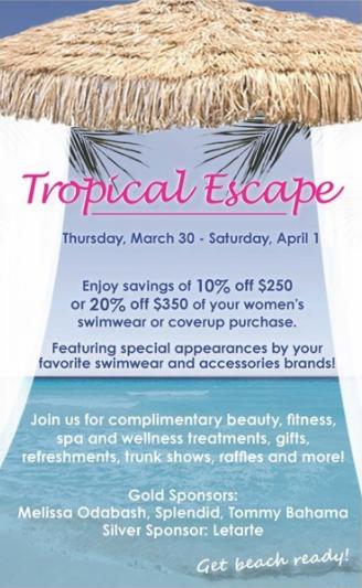 Darien Sport Shop Tropical Escape one 03-18-19