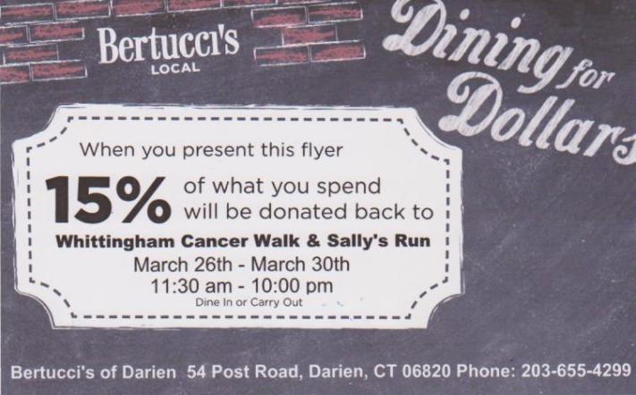 Bertucci's Whittingham Cancer Center 03-19-17
