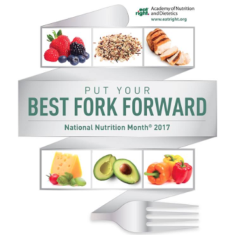 Put Your Best Fork Forward National Nutrition Month 03-19-17