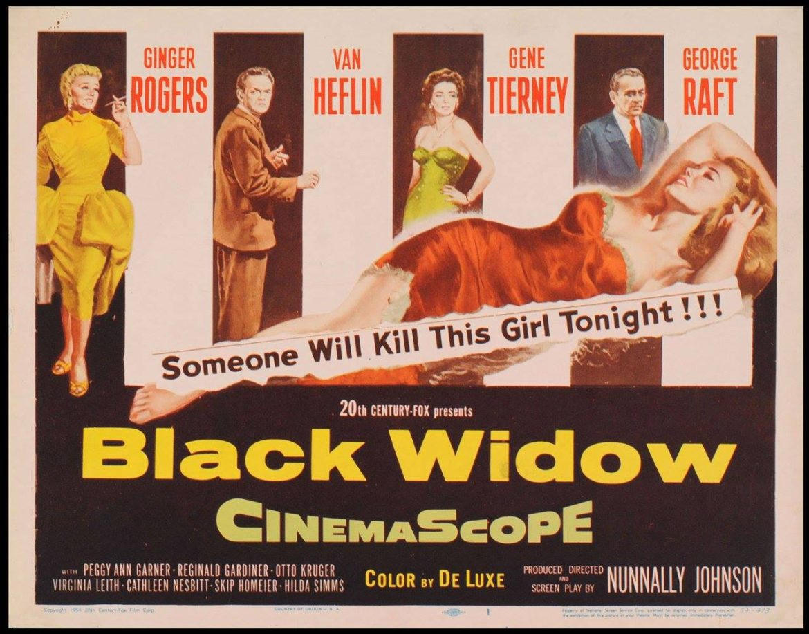 Poster Black Widow movie 1954 04-28-17