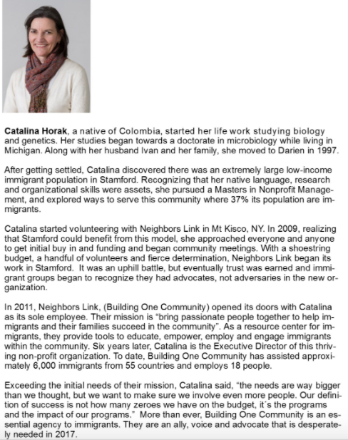 Catalina Horak Women of Distinction 04-05-17