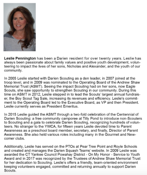 Leslie Pennington Women of Distinction YW 04-05-17