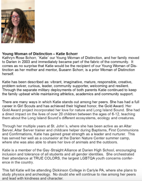 Katie Schorr Women of Distinction 04-05-17