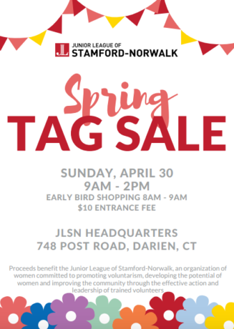 Junior League Stamford Norwalk tag sale spring 04-26-17