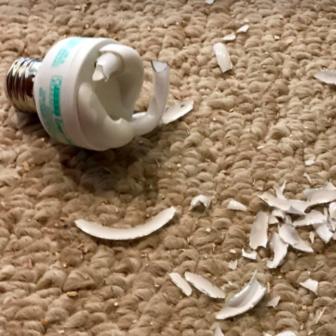 Fluorescent broken bulb recycling center 04-28-17