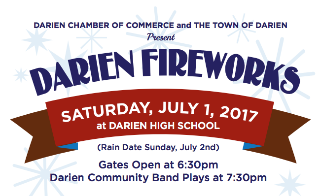 Darien Fireworks top of flyer 2017