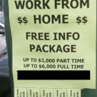 Work from Home sign Employment Jobs 05-07-17