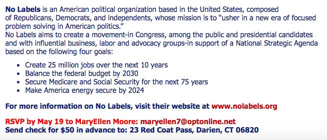 Darien LWV League of Women Voters No Labels B 05-14-17