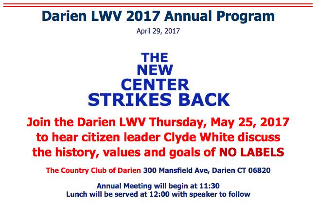 Darien LWV website No Labels A 05-14-17