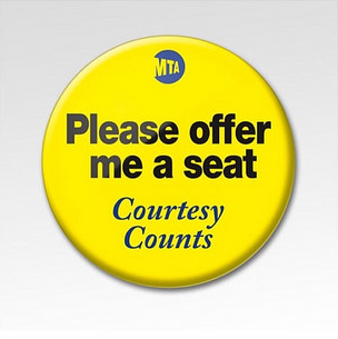 MTA Please Offer Me a Seat button 05-14-17