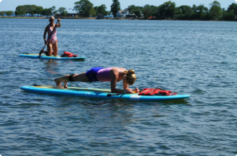Paddleboard class Darien YMCA 05-18-17