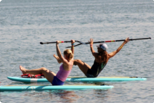 Paddleboard Pilates Darien YMCA 05-18-17