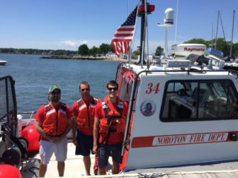 Noroton Fire Department rescue boat 05-22-17