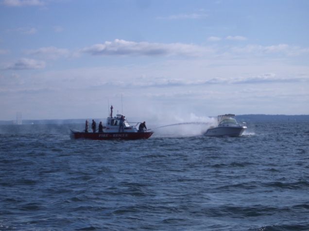 Noroton Fire Department rescue boat at sea 05-22-17