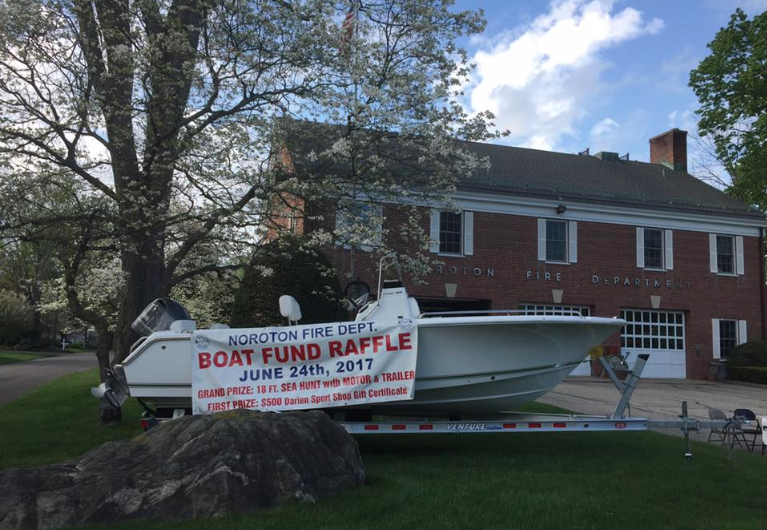 Noroton Fire Department boat raffle 2017 05-22-17