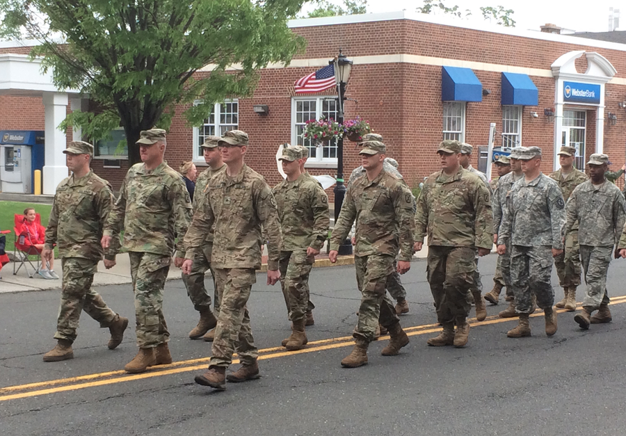 National Guard marching Parade Memorial Day 2017 05-29-17