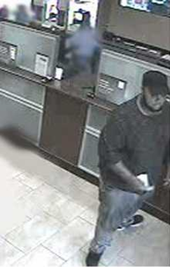 Surveillance photo bank robbery Chase