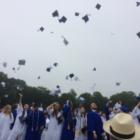 Caps thrown graduation 2017