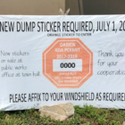 Dump Sticker Renewal 06-24-17
