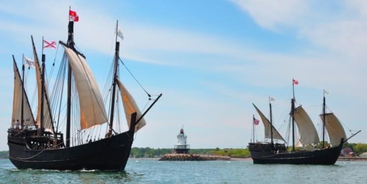 Nina Pinta Columbus Foundation Captain's Cove visit 07-02-17