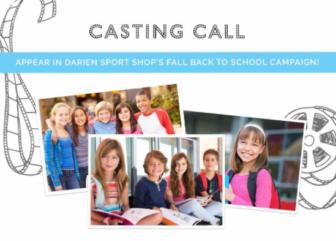 Darien Sport Shop 2017 casting call