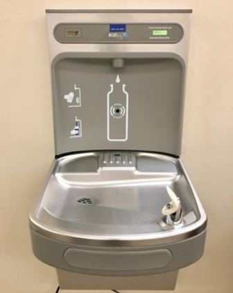 Water fountain Town Hall 07-26-17