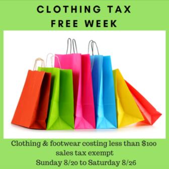 Tax Free Week 2017 DRS on Facebook